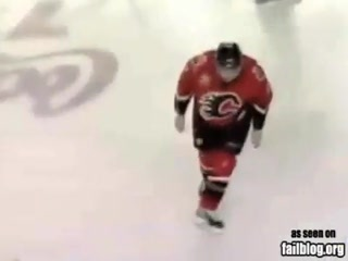 Hockey Intimidation FAIL