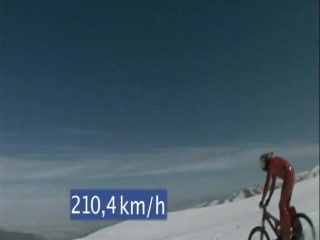 Markus Stoeckl bike speed record in Andes